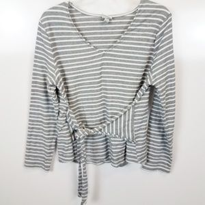 Large A New Day Tie Front Long Sleeved Top